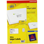 Avery White Address Label - Inkjet - J8160 White