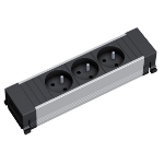 Bachmann 916.1129 power extension 0.1 m 3 AC outlet(s) Black