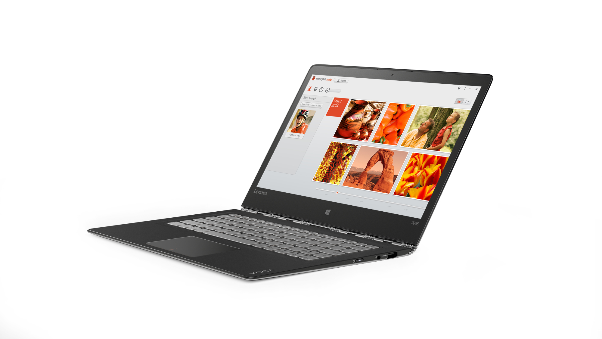 "Lenovo Yoga 900s Black,Silver Hybrid (2-in-1) 31.8 cm (12.5"") 2560 x 1440 pixels Touchscreen Intel®"