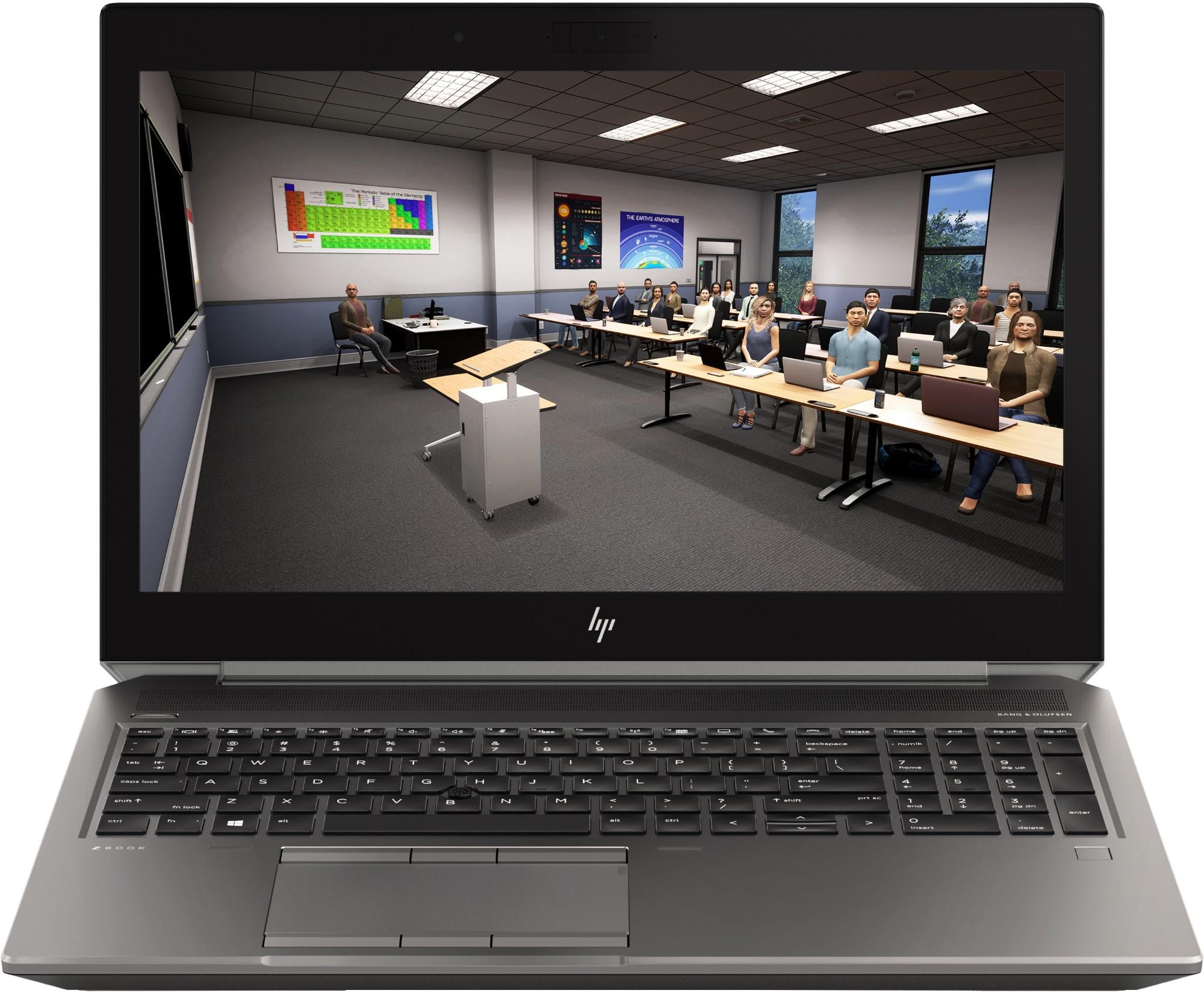 "HP ZBook 15 G6 Zilver Mobiel werkstation 39,6 cm (15.6"") 1920 x 1080 Pixels Intel Xeon E E-2286M 32 GB DDR4-SDRAM 512 GB SSD"