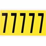 Brady 3460-7 self-adhesive label Rectangle Permanent Black, Yellow 5 pc(s)