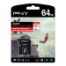 PNY Elite memory card 64 GB MicroSD Class 10 UHS-I