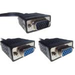 CONNEkT Gear 26-1501 VGA cable 0.15 m VGA (D-Sub) 2 x VGA (D-Sub) Black