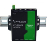 Brainboxes SW-008 network switch Unmanaged Fast Ethernet (10/100) Black, Green