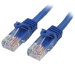 StarTech.com Cable de Red de 0,5m Azul Cat5e Ethernet RJ45 sin Enganches