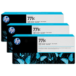HP B6Y37A (771C) Ink cartridge bright black, 775ml, Pack qty 3