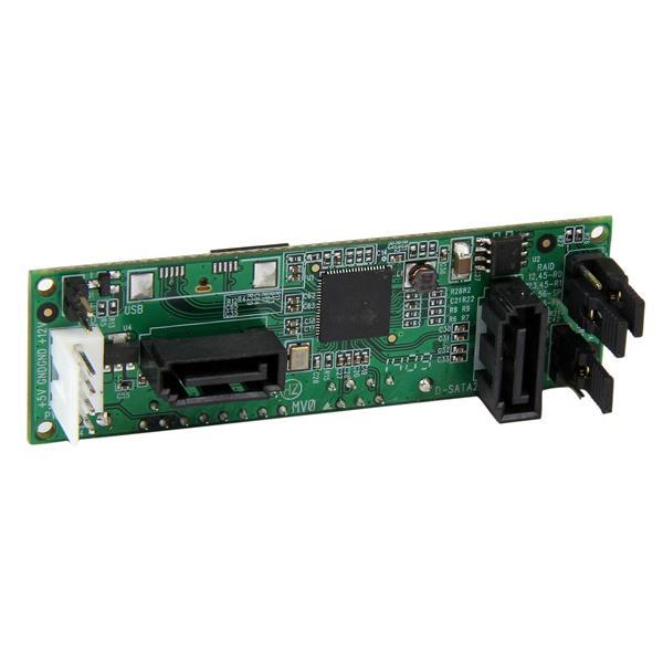 StarTech.com SATA Dual Hard Drive RAID Adapter - Internal SATA Connector to Dual SATA HDD RAID Controller Card