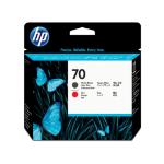 HP 70 Mattschwarz/Rot DesignJet Druckkopf