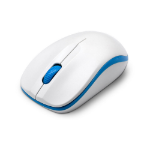 Dynamode Compoint Wireless Ambidextrous 3-Button 1600DPI Optical Mouse with Nano USB Adapter, White/Blue (CP-