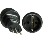 Microconnect PEAIT3MSCF Type F (Schuko) Black power plug adapter