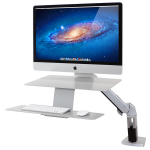 "Ergotron WorkFit-A, Sit-Stand Workstation 27"" Silver"