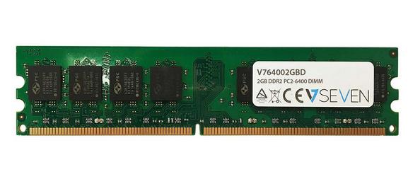 V7 V764002GBD memory module 2 GB 1 x 2 GB DDR2 800 MHz