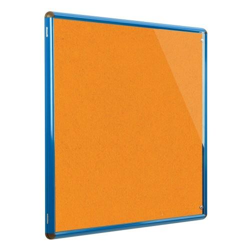 Metroplan Shield Design insert notice board Indoor Blue, Orange Aluminium