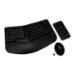 V7 Combinación de teclado, ratón y teclado inalámbrico ergonómico