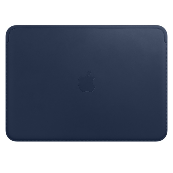 Leather Sleeve - 12in MacBook - midnight Blue