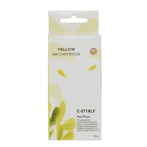 TARGET CLI-571XL-Y ink cartridge Compatible Yellow