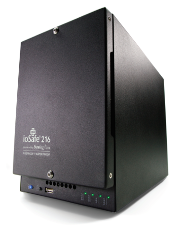ioSafe 216 NAS 16TB- 1 Year Data Recovery Service (DRS) included- Powered by Synology DSM + Data Rec