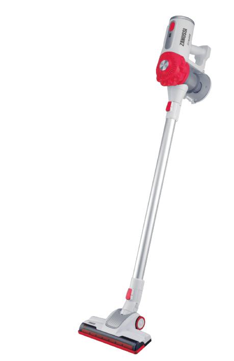 Zanussi ZHS-32802-RD stick vacuum/electric broom Bagless 1 L Red, White