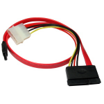 Cables Direct 88RB-416 SATA cable 0.5 m SATA 7-pin SATA 7-pin + Molex (4-pin) Red
