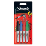 Sharpie S0811250 Black,Blue,Green,Red 4pc(s) permanent marker