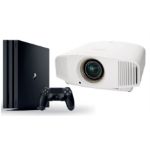 Sony VPL-VW570/W + PS4Pro 1TB data projector 1800 ANSI lumens SXRD 4K (4096 x 2400) 3D Desktop projector White