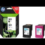 HP N9J72AE (301) Printhead cartridge multi pack, 190pg + 165pg, Pack qty 2