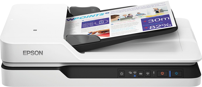 Epson WorkForce DS-1660W 600 x 600 DPI Flatbed scanner Black,White A4