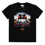 Universal Back to the Future Powered by Flux Capacitor T-Shirt, Male, Large, Black (TS636623BFT-L)
