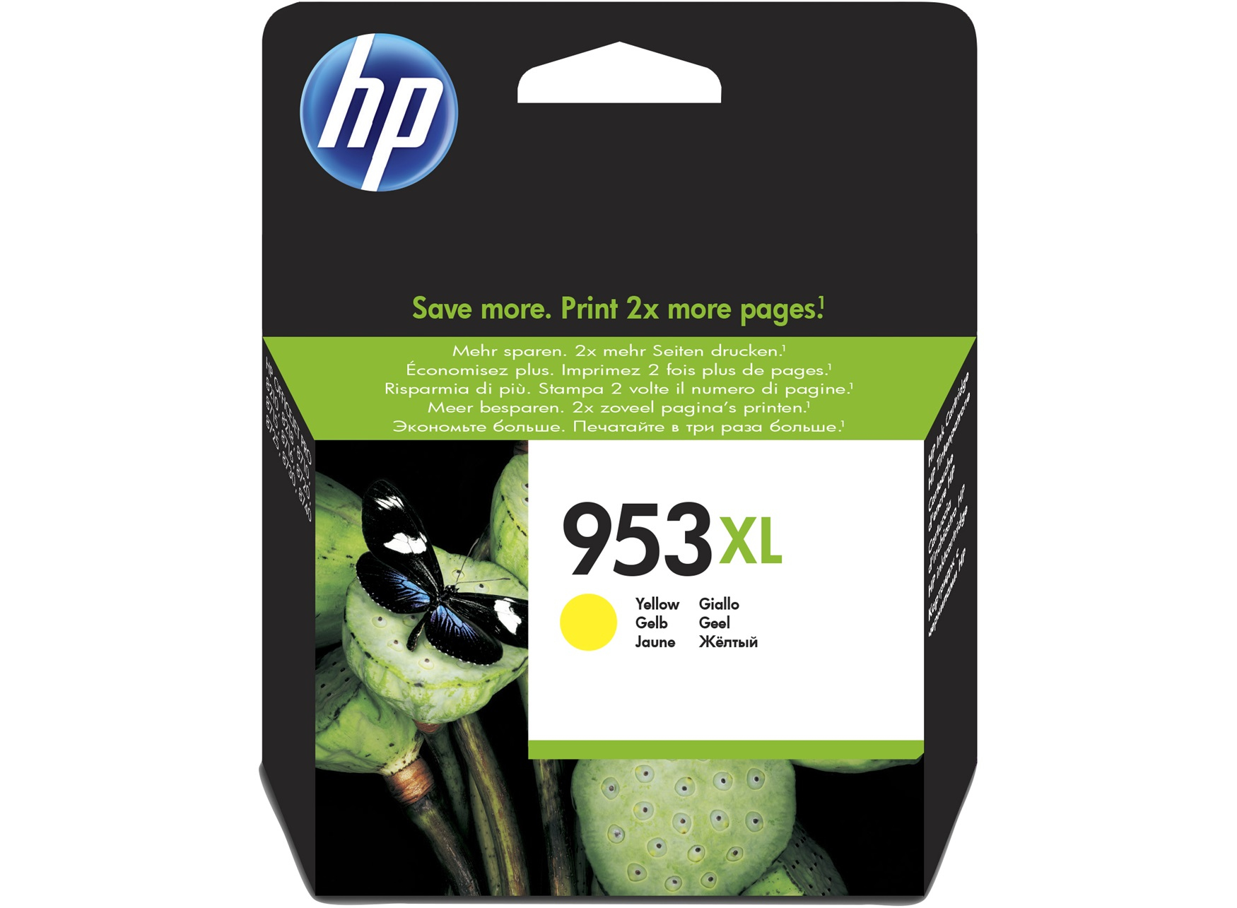 HP 953XL Yellow Original Ink Cartridge Amarillo
