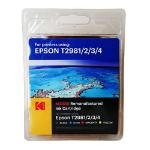 Kodak Remanufactured Epson T2986 Black & Colour Inkjet Ink Combo Pack, 48ml