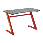 Brateck Z-Shaped Gaming Computer Desk-Red(LS)