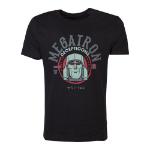Hasbro Transformers Decepticons Megatron T-Shirt, Male, Large, Black (TS046217HSB-L)