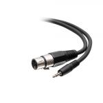 """C2G C2G41468 audio cable 19.7"""" (0.5 m) 3.5mm TRS XLR Black"""
