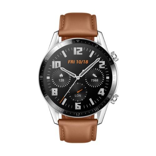 "Huawei WATCH GT 2 smartwatch AMOLED 3.53 cm (1.39"") Stainless steel GPS (satellite)"