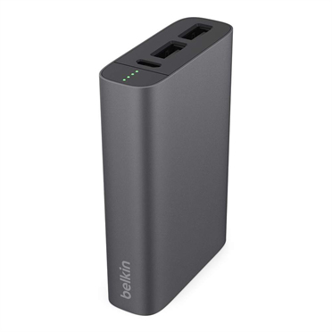 BELKIN 6000mAh Premium Battery Pack 3.4amp Shared Dual USB Ports - Grey