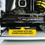Gorilla Gaming Customised Erector GPU Anti-Sag Support Bracket Black