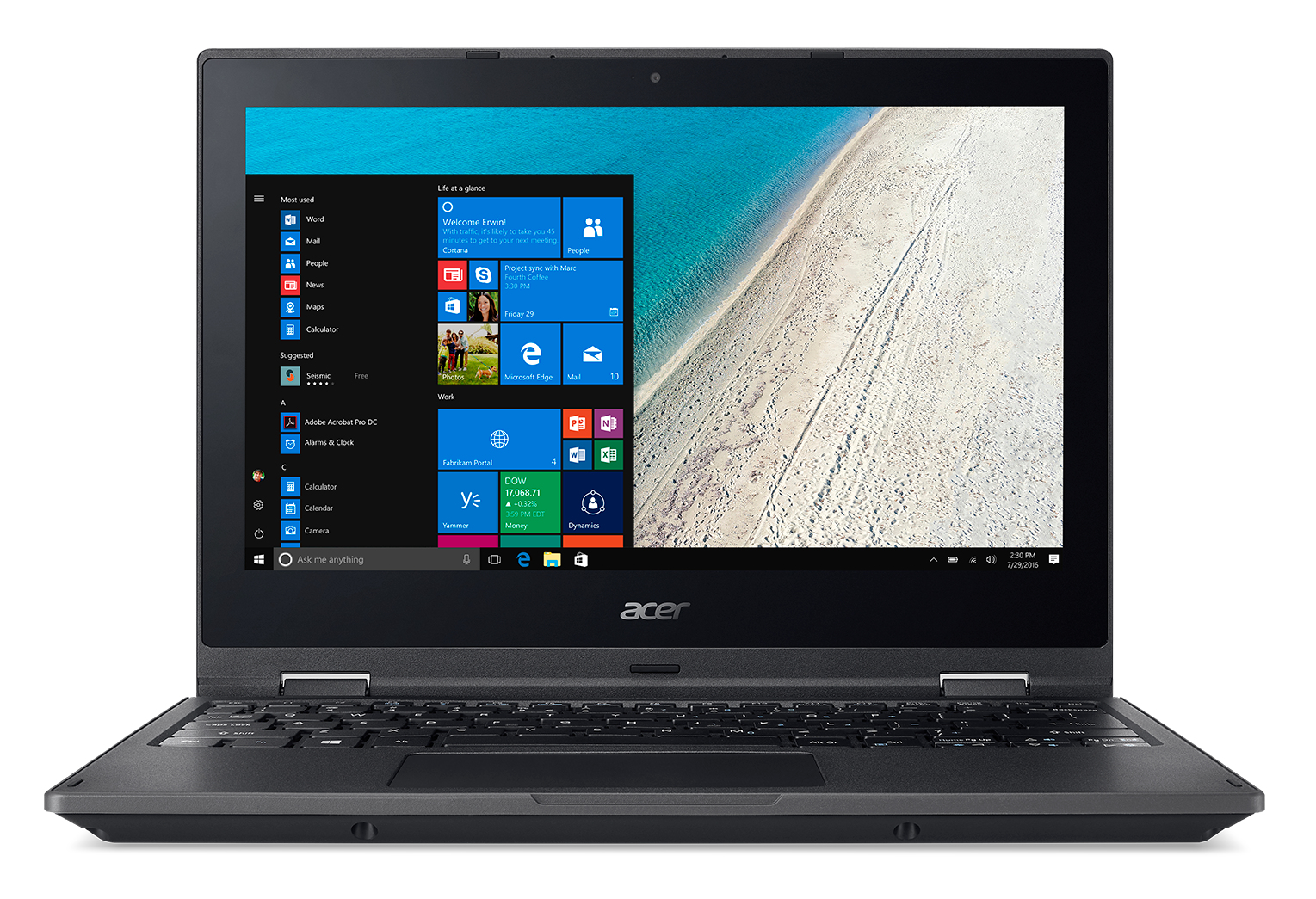 "Acer TravelMate Spin B1 TMB118-RN-C0KG 1.1GHz N3450 11.6"" 1920 x 1080pixels Touchscreen Black Hybrid (2-in-1)"