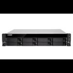 QNAP TVS-872XU-RP i3-8100 Ethernet LAN Rack (2U) Aluminium,Black NAS