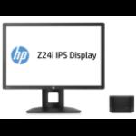 HP Elite Slice G2 + Z24i i5-7500T USFF 7th gen Intel® Core™ i5 8 GB DDR4-SDRAM 128 GB SSD Windows 10 IoT Enterprise PC Black