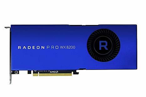 Radeon Pro Wx 8200 8GB Gddr5, Pci-e X16, 4x Mini Dp