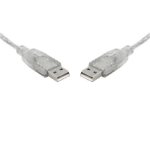 8WARE USB 2.0 Cable 5m A to A Transparent Metal Sheath UL Approved