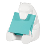 Post-It Pop-up Note Dispenser for 3 in x 3 in Notes, Bear design, White note paper dispenser