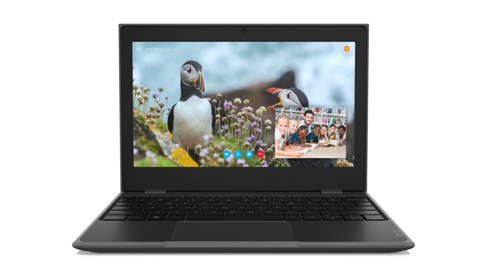 "Lenovo 100e Zwart Notebook 29,5 cm (11.6"") 1366 x 768 Pixels Intel® Celeron® 4 GB LPDDR4-SDRAM 64 GB eMMC Windows 10 Pro Education"