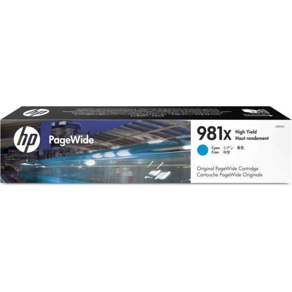 HP L0R09A (981X) Ink cartridge cyan, 10K pages