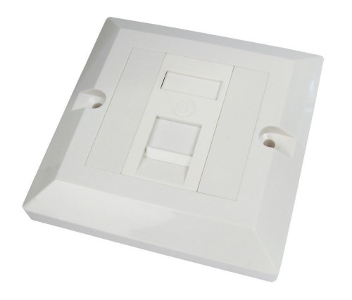 Cables Direct Single Cat6 Faceplate White outlet box