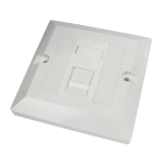 Cables Direct Single Cat6 Faceplate outlet box White