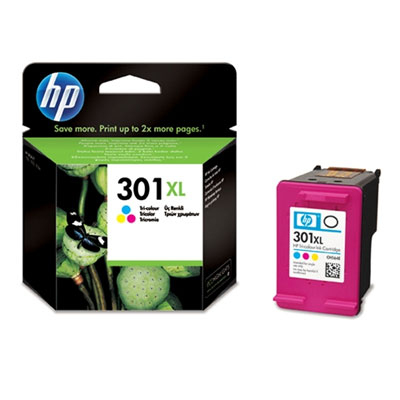 HP 301XL Tri-color Ink Cartridge Original Cian, magenta, Amarillo