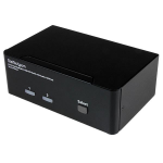 StarTech.com 2 Port Dual DisplayPort USB KVM Switch with Audio & USB 2.0 Hub