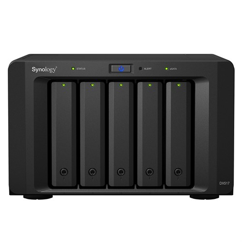 Synology DX517 disk array 50 TB Desktop Black