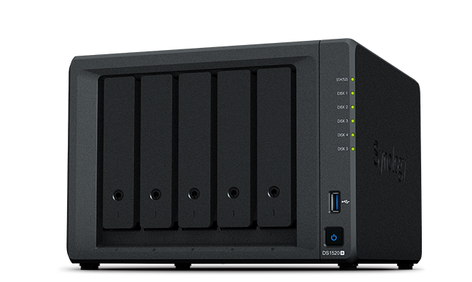 Synology DiskStation DS1520+ NAS/storage server J4125 Ethernet LAN Desktop Black